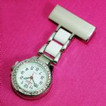 Nurse Watch, personalised Diamante White ref DWNW